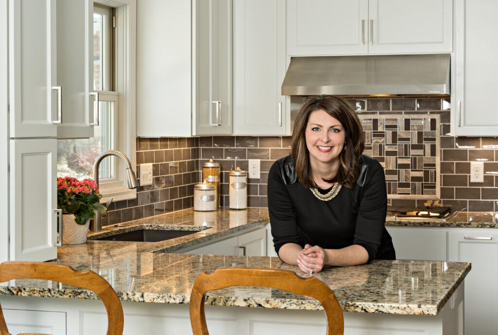 Designer Kristen Peck at 2015 Remodelers Showcase home